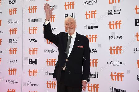 """Christopher Plummer attends the premiere for """"Knives Out"""" on day three of the Toronto International Film Festival at the Princess of Wales Theatre, in Toronto"""