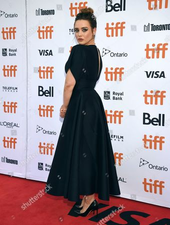 """Katherine Langford attends the premiere for """"Knives Out"""" on day three of the Toronto International Film Festival at the Princess of Wales Theatre, in Toronto"""