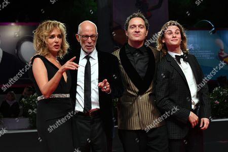 Valeria Golino, Gabriele Salvatores, Claudio Santamaria and Giulio Pranno