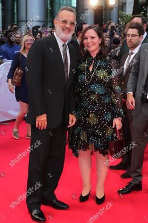 Stock Photo of Tom Hanks, Hannah Minghella, President of TriStar Pictures