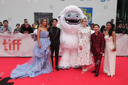 Chloe Bennet, Sherpa Tenzing Norgay Trainor, Everest, Sarah Paulson, Albert Tsai and Michelle Wong seen at DreamWorks Animation and Pearl Studio present the World Premiere Gala Presentation of ABOMINABLE at the 2019 Toronto International Film Festival on Saturday, September 7, 2019 at Roy Thomson Hall in Toronto, Canada.