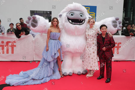 Chloe Bennet, Everest, Sarah Paulson and Albert Tsai seen at DreamWorks Animation and Pearl Studio present the World Premiere Gala Presentation of ABOMINABLE at the 2019 Toronto International Film Festival on Saturday, September 7, 2019 at Roy Thomson Hall in Toronto, Canada.