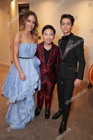 Chloe Bennet, Albert Tsai and Sherpa Tenzing Norgay Trainor seen at DreamWorks Animation and Pearl Studio present the World Premiere Gala Presentation of ABOMINABLE at the 2019 Toronto International Film Festival on Saturday, September 7, 2019 at Roy Thomson Hall in Toronto, Canada.
