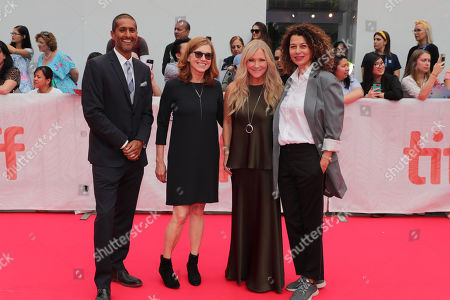 Abhijay Prakash, President of Universal Filmed Entertainment Group, Margie Cohn, President of DreamWorks Animation, Jill Culton, Writer/Director, and Donna Langley, Chairman, Universal Filmed Entertainment Group, seen at DreamWorks Animation and Pearl Studio present the World Premiere Gala Presentation of ABOMINABLE at the 2019 Toronto International Film Festival on Saturday, September 7, 2019 at Roy Thomson Hall in Toronto, Canada.