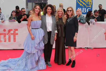 Chloe Bennet, Donna Langley, Chairman, Universal Filmed Entertainment Group, Jill Culton, Writer/Director, and Margie Cohn, President of DreamWorks Animation, seen at DreamWorks Animation and Pearl Studio present the World Premiere Gala Presentation of ABOMINABLE at the 2019 Toronto International Film Festival on Saturday, September 7, 2019 at Roy Thomson Hall in Toronto, Canada.
