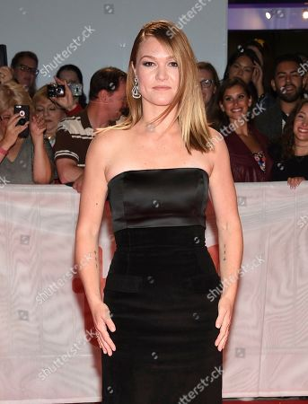 """Julia Stiles attends the premiere for """"Hustlers"""" on day three of the Toronto International Film Festival at Roy Thomson Hall, in Toronto"""