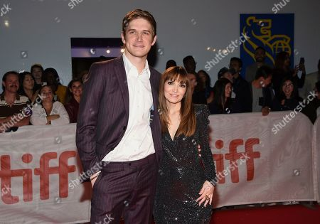 """Bo Burnham and Lorene Scafaria attends the premiere for """"Hustlers"""" on day three of the Toronto International Film Festival at Roy Thomson Hall, in Toronto"""