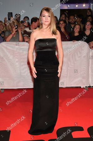 """Stock Image of Julia Stiles attends the premiere for """"Hustlers"""" on day three of the Toronto International Film Festival at Roy Thomson Hall, in Toronto"""