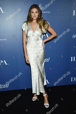 Perry Mattfeld attends The Hollywood Foreign Press Association and The Hollywood Reporter's Toronto International Film Festival party on day three of TIFF at the Four Seasons Hotel, in Toronto