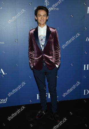 Tenzing Norgay Trainor attends The Hollywood Foreign Press Association and The Hollywood Reporter's Toronto International Film Festival party on day three of TIFF at the Four Seasons Hotel, in Toronto