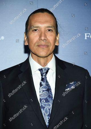 Michael Greyeyes attends The Hollywood Foreign Press Association and The Hollywood Reporter's Toronto International Film Festival party on day three of TIFF at the Four Seasons Hotel, in Toronto