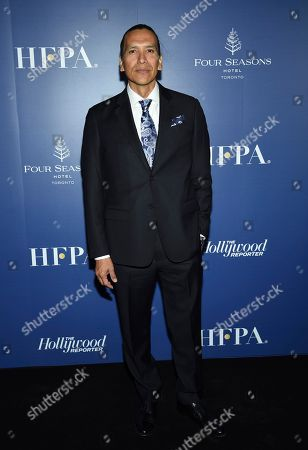 Stock Image of Michael Greyeyes attends The Hollywood Foreign Press Association and The Hollywood Reporter's Toronto International Film Festival party on day three of TIFF at the Four Seasons Hotel, in Toronto