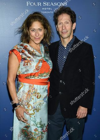 Tim Blake Nelson,Lisa Benavides. Lisa Benavides, left, and Tim Blake Nelson attend The Hollywood Foreign Press Association and The Hollywood Reporter's Toronto International Film Festival party on day three of TIFF at the Four Seasons Hotel, in Toronto