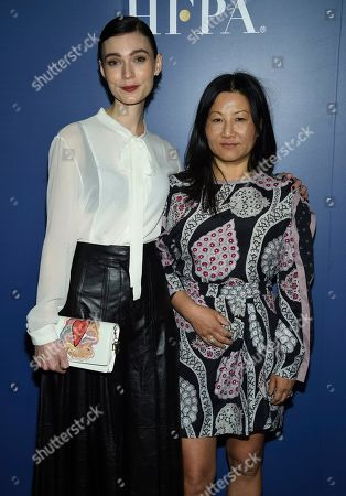 Peilin Chou, Tilda Cobham-Hervey. Tilda Cobham-Hervey, left, Peilin Chou attend The Hollywood Foreign Press Association and The Hollywood Reporter's Toronto International Film Festival party on day three of TIFF at the Four Seasons Hotel, in Toronto