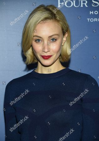 Sarah Gadon attends The Hollywood Foreign Press Association and The Hollywood Reporter's Toronto International Film Festival party on day three of TIFF at the Four Seasons Hotel, in Toronto