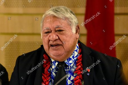 Prime Minister of Samoa Tuilaepa Aiono Sailele Malielegaoi speaks during a bilateral meeting with Australian Prime Minister Scott Morrison (not pictured) at BankWest Stadium in Parramatta, Sydney, Australia, 07 September 2019 (issued 08 September 2019).