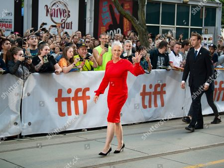 Jamie Lee Curtis (C) arrives for the screening of the movie 'Knives Out' during the 44th annual Toronto International Film Festival (TIFF) in Toronto, Canada, 07 September 2019. The festival runs 05 to 15 September.
