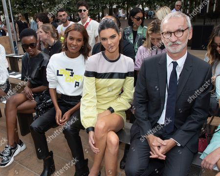 Liya Kebede, Kendall Jenner, Jean Cassegrain. Liya Kebede, from left, model Kendall Jenner, and Chief Executive Officer, Longchamp SAS, Jean Cassegrain attend the Longchamp runway show at Lincoln Center during NYFW Spring/Summer 2020, in New York