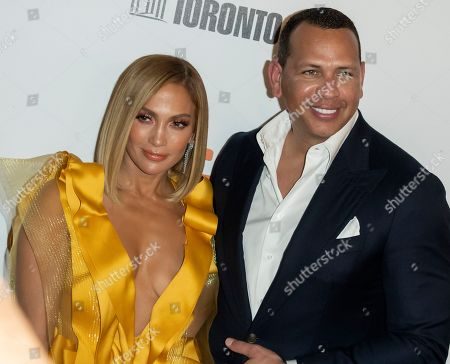 Jennifer Lopez (L) and husband Alex Rodriguez (R) arrive for the screening of the movie 'Hustlers' during the 44th annual Toronto International Film Festival (TIFF) in Toronto, Canada, 07 September 2019. The festival runs 05 to 15 September.
