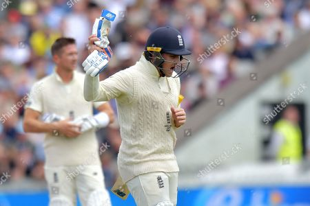 England's Jason Roy reacts after being bowled out by Australia's Pat Cummins during day five of the fourth Specsavers Ashes test series at Old Trafford, Manchester, UK
