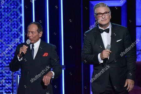 Paul Anka, Alec Baldwin. Paul Anka, left, and Alec Baldwin participate in the Comedy Central roast of Alec Baldwin at the Saban Theatre, in Beverly Hills, Calif