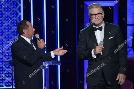 Stock Picture of Paul Anka, Alec Baldwin. Paul Anka, left, and Alec Baldwin participate in the Comedy Central roast of Alec Baldwin at the Saban Theatre, in Beverly Hills, Calif