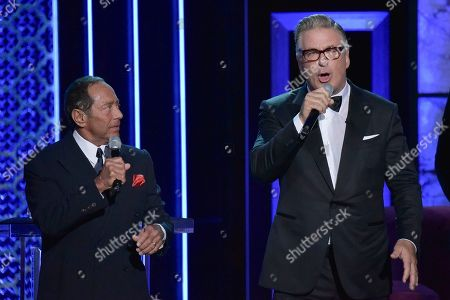 Stock Photo of Paul Anka, Alec Baldwin. Paul Anka, left, and Alec Baldwin participate in the Comedy Central roast of Alec Baldwin at the Saban Theatre, in Beverly Hills, Calif