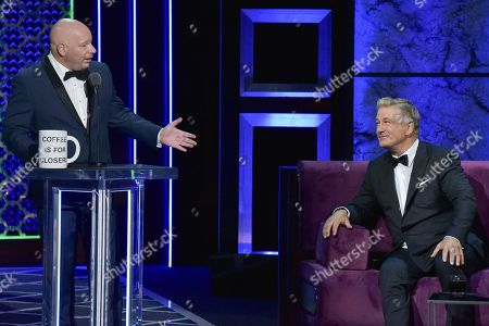 Jeff Ross, Alec Baldwin. Jeff Ross, left, and Alec Baldwin participate in the Comedy Central roast of Alec Baldwin at the Saban Theatre, in Beverly Hills, Calif