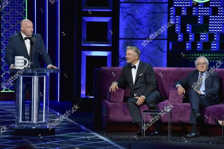 Jeff Ross, Alec Baldwin, Robert De niro. Jeff Ross, from left, Alec Baldwin and Robert De niro participate in the Comedy Central roast of Alec Baldwin at the Saban Theatre, in Beverly Hills, Calif