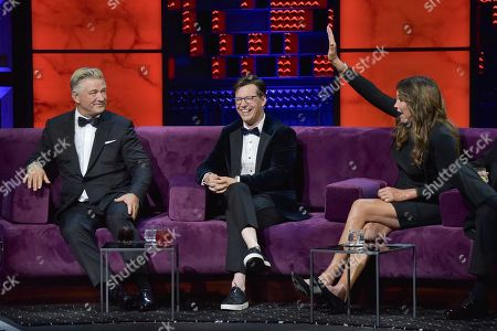 Alec Baldwin, Sean Hayes, Caitlyn Jenner. Alec Baldwin, from left, Sean Hayes and Caitlyn Jenner participate in the Comedy Central roast of Alec Baldwin at the Saban Theatre, in Beverly Hills, Calif