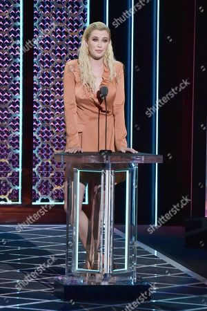Ireland Baldwin participates in the Comedy Central roast of Alec Baldwin at the Saban Theatre, in Beverly Hills, Calif