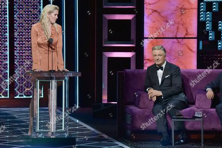 Ireland Baldwin, Alec Baldwin. Ireland Baldwin, left, and Alec Baldwin participate in the Comedy Central roast of Alec Baldwin at the Saban Theatre, in Beverly Hills, Calif