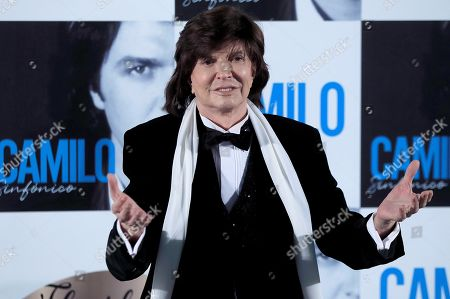 (FILE) A file picture shows Spanish singer and songwriter Camilo Sesto posing during the presentation of his latest album 'Camilo Sinfonico' in Madrid, Spain, 20 November 2018 (issued 08 September 2019). Media reports on 08 September citing the singer's family state that Camilo Sesto died from a cardiac arrest at a clinic in Madrid in the early hours of 08 September 2019 at the age of 72.