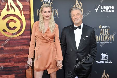 Ireland Baldwin, Alec Baldwin. Ireland Baldwin, left, and Alec Baldwin attend the Comedy Central roast of Alec Baldwin at the Saban Theatre, in Beverly Hills, Calif