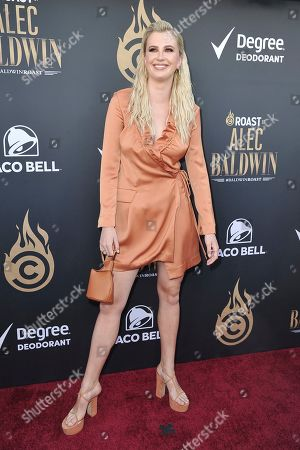Ireland Baldwin attends the Comedy Central roast of Alec Baldwin at the Saban Theatre, in Beverly Hills, Calif