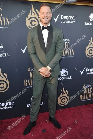 Blake Griffin attends the Comedy Central roast of Alec Baldwin at the Saban Theatre, in Beverly Hills, Calif