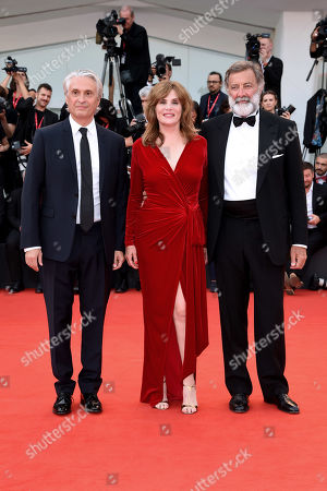Stock Photo of Emmanuelle Seigner, Luca Barbareschi, Alain Goldman