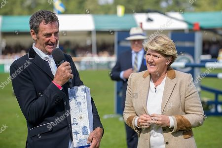 Sir Mark Todd with Clare Balding on his official retirement from competitive riding. The Land Rover Burghley on Sunday 8th September.