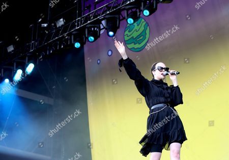 Allie X performs on the Main Stage South during the Lollapalooza Berlin 2019 at the Olympiastadion (Olympic stadium) and Olympic Park in Berlin, Germany, 08 September 2019. The music festival runs from 07 to 08 September.