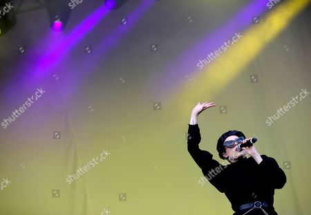 Stock Picture of Allie X performs on the Main Stage South during the Lollapalooza Berlin 2019 at the Olympiastadion (Olympic stadium) and Olympic Park in Berlin, Germany, 08 September 2019. The music festival runs from 07 to 08 September.