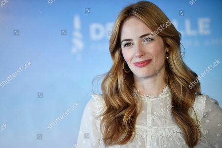 Jaime Ray Newman poses at the photocall for 'Skin' during the 45th Deauville American Film Festival, in Deauville, France, 08 September 2019. The festival runs from 06 to 15 September.