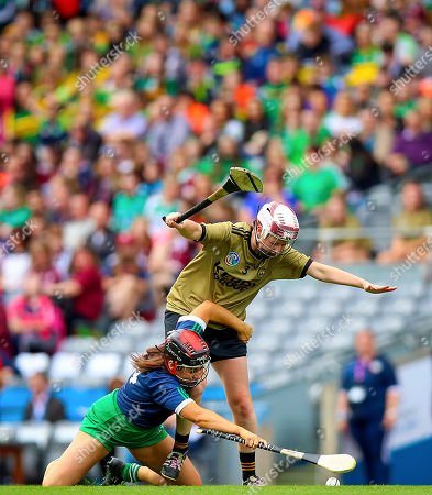 Stock Photo of Kerry vs Limerick. Kerry's Liz Houlihan with Grace Lee of Limerick