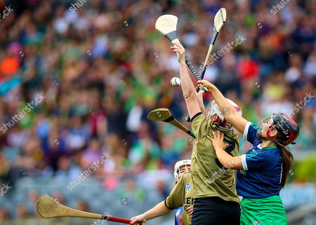 Kerry vs Limerick. Kerry's Liz Houlihan with Grace Lee of Limerick