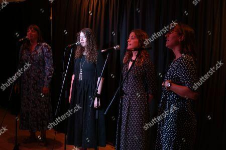 The Norfolk Broads - L to R  Anna Cornish, Eleanor Dale, Helen Cherry, Daisy Johnson