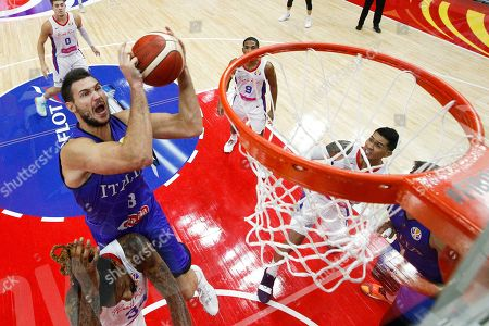 Stock Photo of Danilo Gallinari of Italy goes for a shot during the FIBA Basketball World Cup 2019 match between Puerto Rico and Italy in Wuhan, China, 08 September 2019.