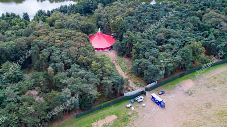 The Big Top Circus tent at Henham Park in Suffolk where Ed Sheeran held a secret party on Saturday night  to celebrate his marriage to Cherry Seaborn. The grounds are around 20 miles from Sheeran's house in Framlingham and are normally used for the annual Lattitude music festival.