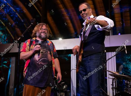 Stock Image of (L-R) Jack Black and Stanley Clarke