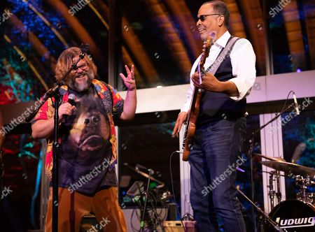 Stock Picture of (L-R) Jack Black and Stanley Clarke
