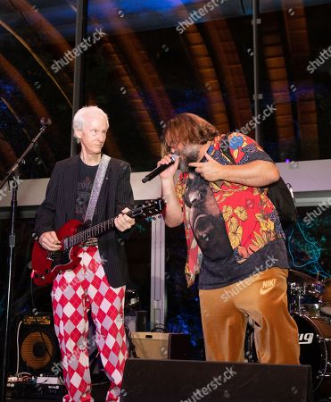 Stock Image of (L-R) Robby Krieger and Jack Black