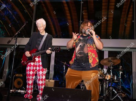 (L-R) Robby Krieger and Jack Black